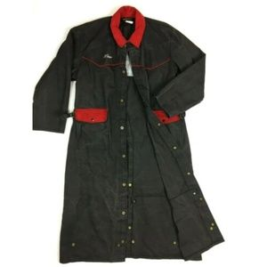 Vintage Trench Coat Duster Western Corduroy XL